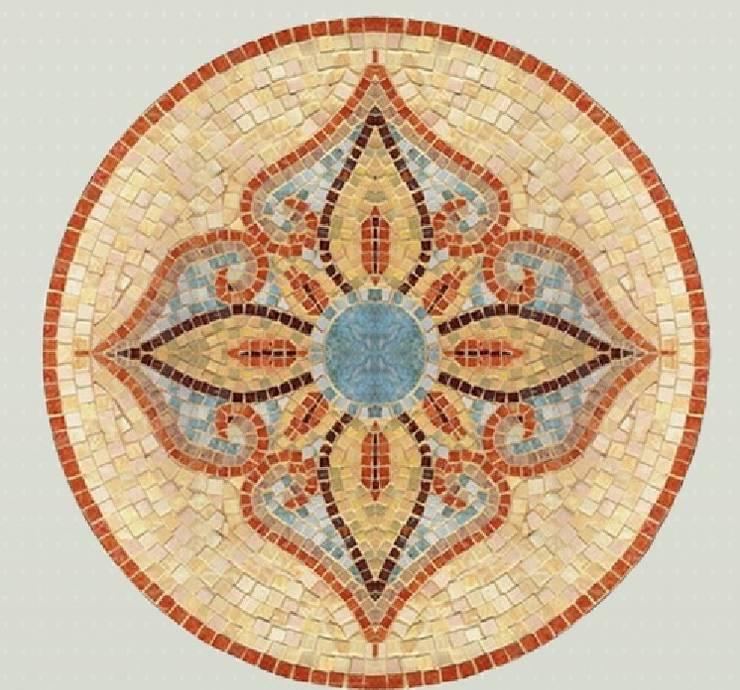 Rosace Fiori di giada: Murs & Sols de style  par Steeve Jurion