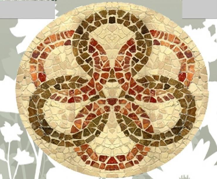 Rosace l'Incontro di Culture: Murs & Sols de style  par Steeve Jurion
