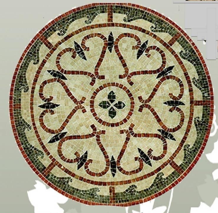 Mosaïques romaines en marbre: Murs & Sols de style  par Steeve Jurion