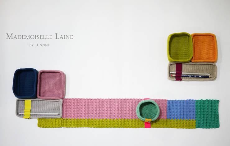 Knit-ris & Knit-reet: ATELIER JUNNNE의  서재/사무실