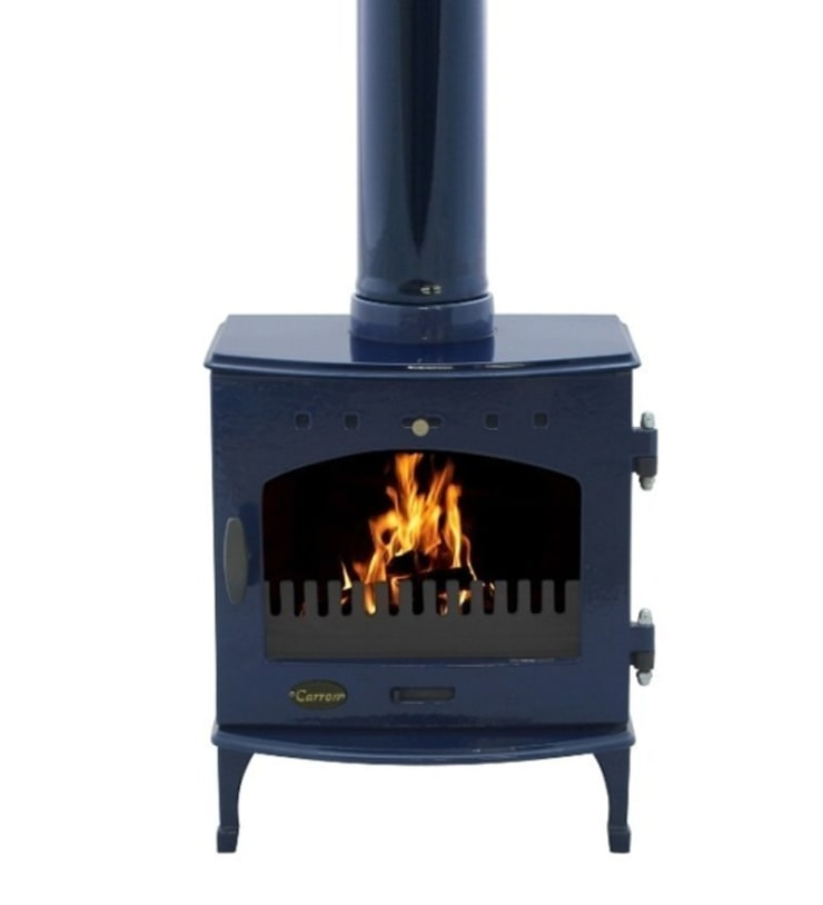 Carron Blue Enamel 4.7kW Multi Fuel DEFRA Approved Stove:  Living room by Direct Stoves