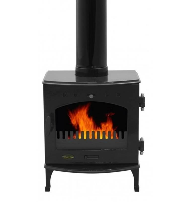 Carron Black Enamel 4.7kW Multi Fuel DEFRA Approved Stove:  Living room by Direct Stoves