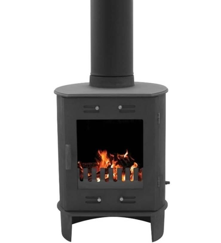 Carron Dante Matt Black 5kW Multi Fuel DEFRA Approved Stove:  Living room by Direct Stoves