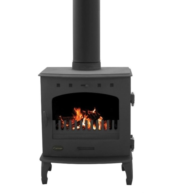 Carron Matt Black 7.3kW Multi Fuel DEFRA Approved Stove:  Living room by Direct Stoves