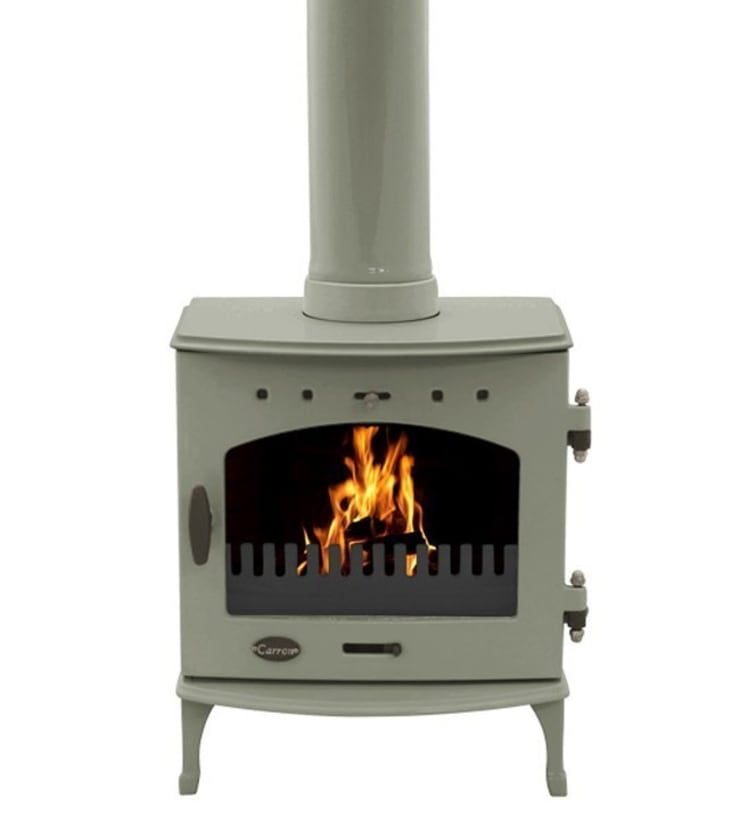 Carron Sage Green 4.7kW Multi Fuel DEFRA Approved Stove:  Living room by Direct Stoves