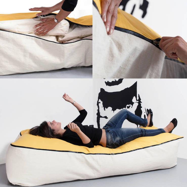 Geometrie in movimento - dormeuse /chaise longue PIPEDO: Soggiorno in stile in stile Moderno di design Inmovimento