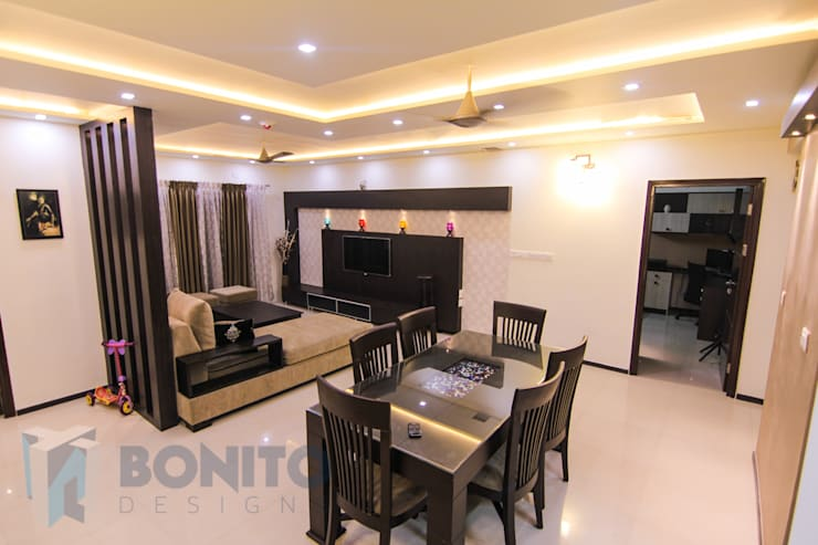 colonial Living room by homify