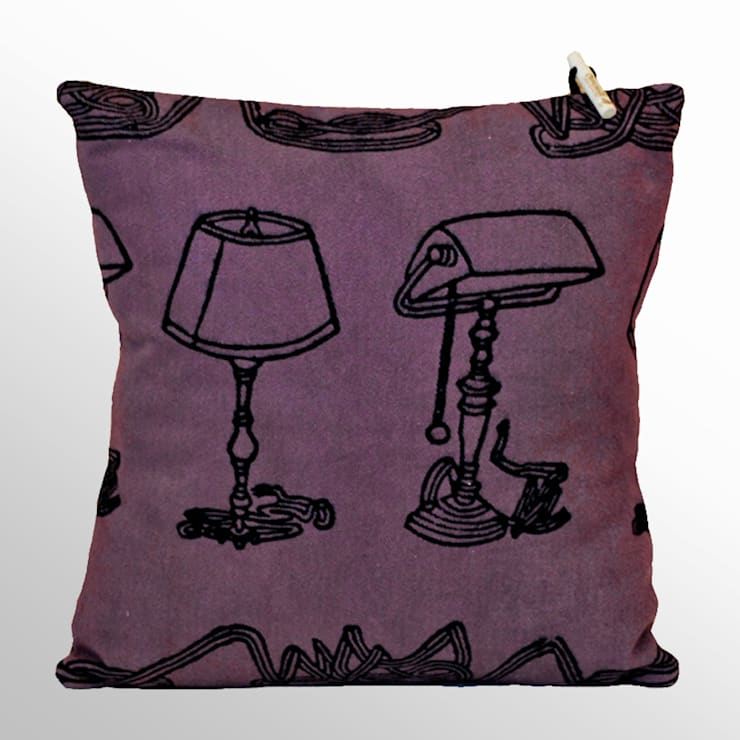 Chouchette – Chouchette 'Lamp' Cushion illustrated by artist Gabriela Vainsencher:  tarz Ev İçi