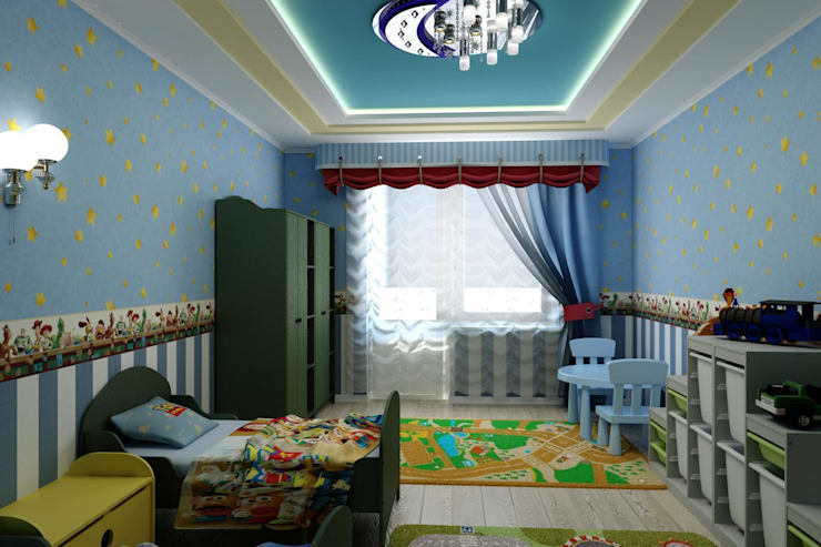 """Детская в стиле """"Игрушки"""" : Детские комнаты в . Автор – Дизайн студия 'Exmod' Павел Цунев"""