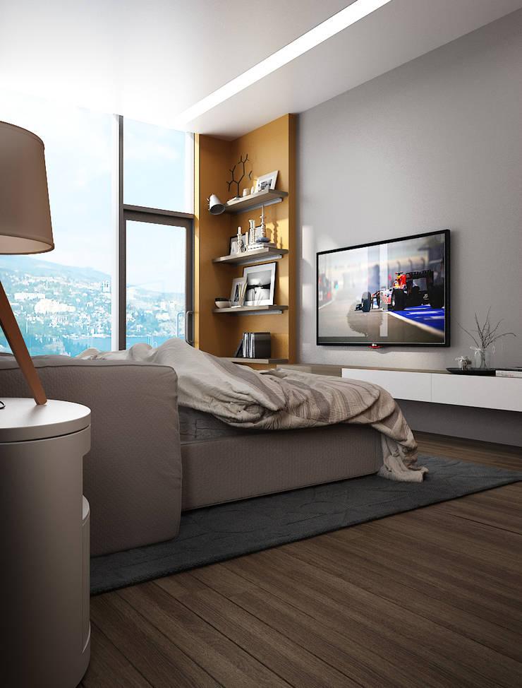 Вилла Гурзуф: спальня: Спальни в . Автор – VITTA-GROUP