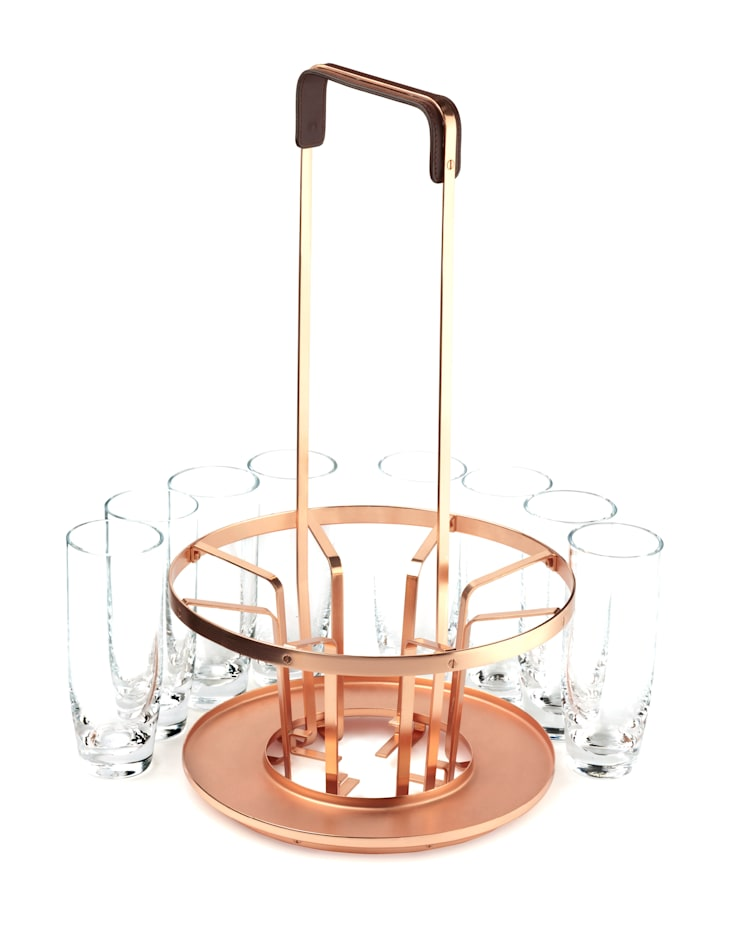 Cocktail Carrier by Samuel Williams : Salle à manger de style  par Samuel Williams