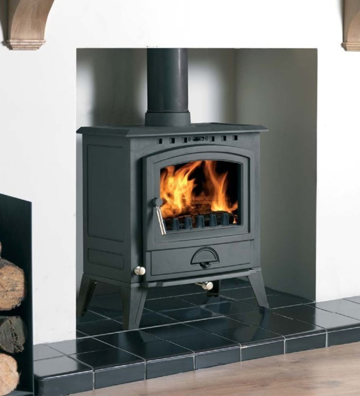 Cast Tec Alberg 7 Wood Burning / Multi Fuel Stove:  Living room by Direct Stoves
