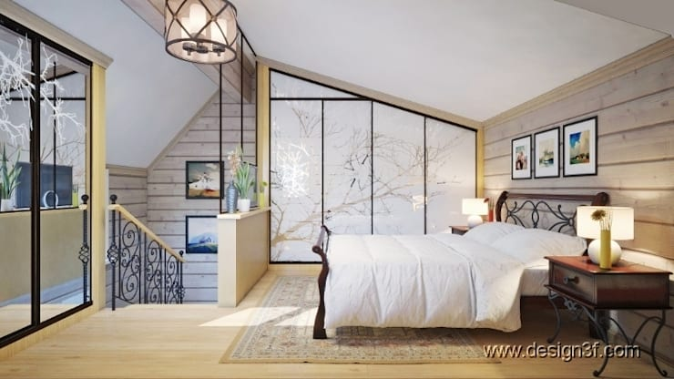 Dormitorios de estilo moderno por студия Design3F