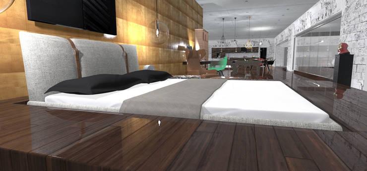 loft corse: Chambre de style  par Coville stephane