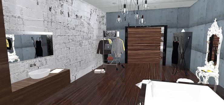 loft corse: Salle de bains de style  par Coville stephane