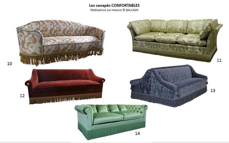 Les canapés CONFORTABLES: première partie: Salon de style  par BALCAEN Mobilier de style, Paris
