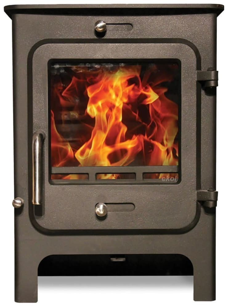 Ekol Clarity 5kW Wood Burning - Multi Fuel DEFRA Approved Stove:  Living room by Direct Stoves