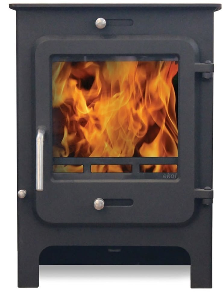 Ekol Clarity 8kW Wood Burning - Multi Fuel DEFRA Approved Stove:  Living room by Direct Stoves