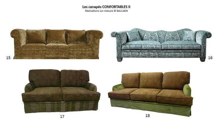 Les canapés CONFORTABLES II: Salon de style  par BALCAEN Mobilier de style, Paris