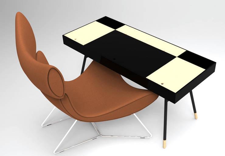 minimalistische Studeerkamer/kantoor door Coville stephane