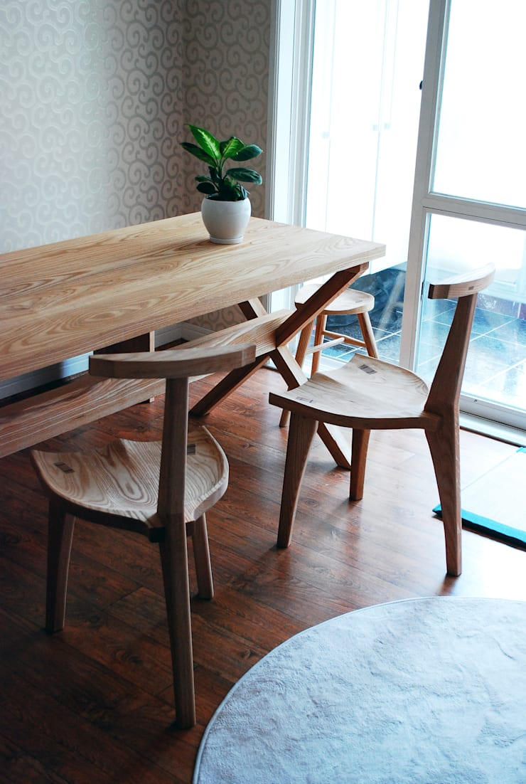 ASH TABLE SET: MOKNEE의  주방