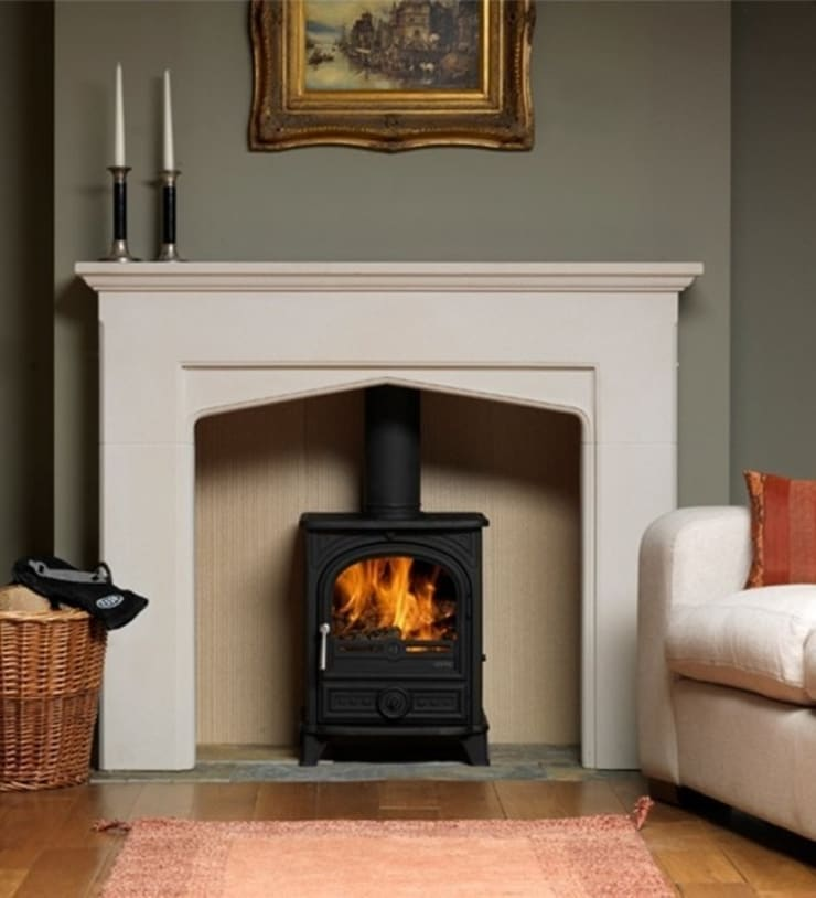 Esse 500 Multi Fuel - Wood Burning Stove:  Living room by Direct Stoves