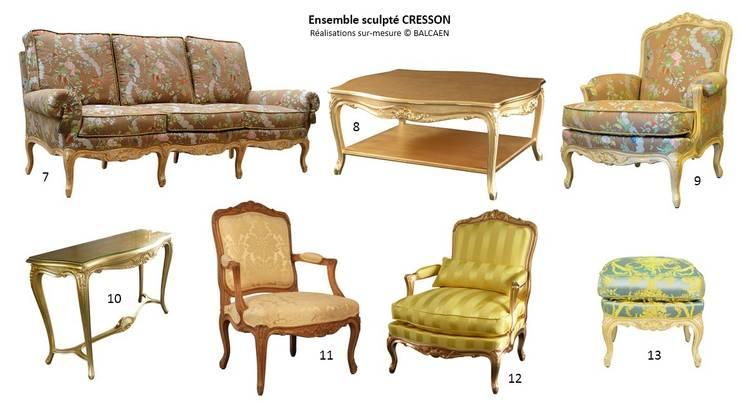 Ensemble de Salon CRESSON II: Salon de style  par BALCAEN Mobilier de style, Paris