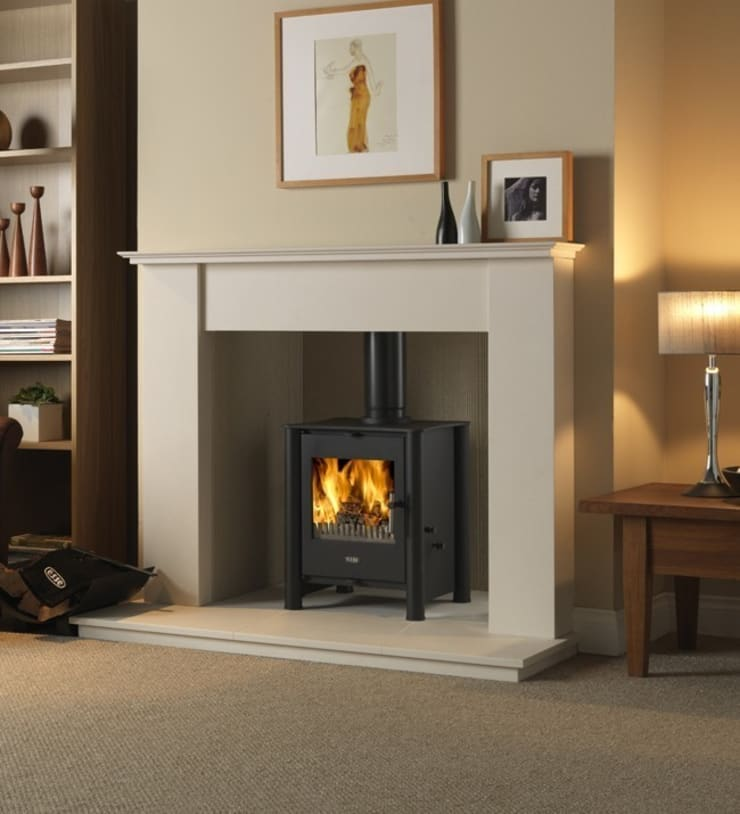 Esse 525 Multi Fuel - Wood Burning Stove:  Living room by Direct Stoves