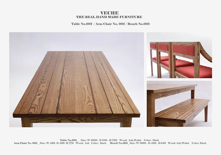 Table_001: Made by VECHE의  주방