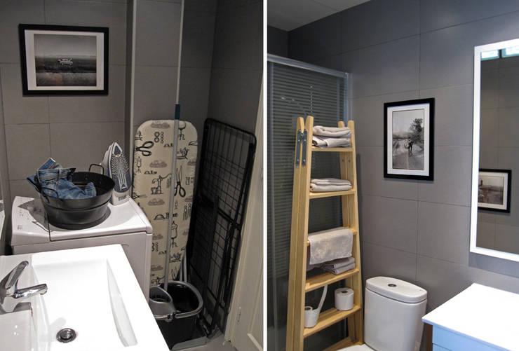 baño en Chamberí, Madrid: Baños de estilo  de CarlosSobrinoArquitecto