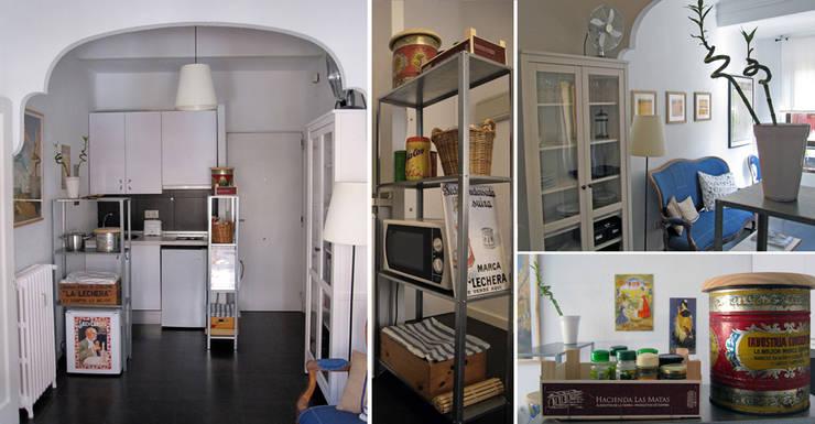 cocina en Chamberí, Madrid: Cocinas de estilo  de CarlosSobrinoArquitecto