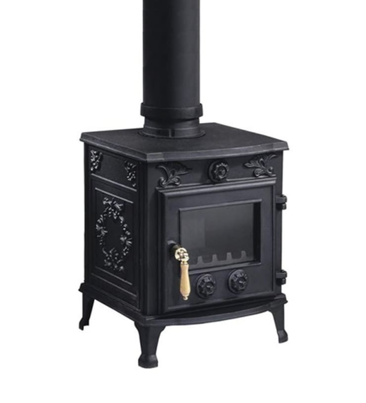 Evergreen Constable Single Door Multifuel Stove:  Living room by Direct Stoves