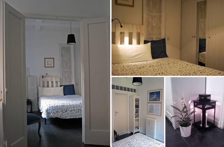 dormitorio en Chamberí, Madrid: Dormitorios de estilo  de CarlosSobrinoArquitecto