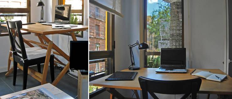 estudio en Chamberí, Madrid: Estudios y despachos de estilo  de CarlosSobrinoArquitecto