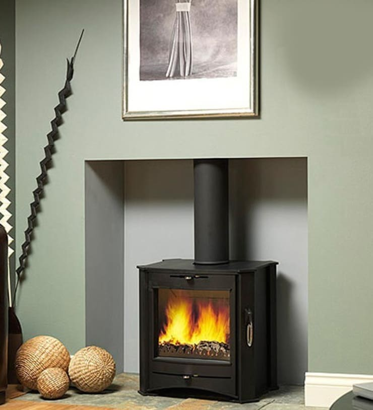 Firebelly FB T1 Woodburning Stove:  Living room by Direct Stoves