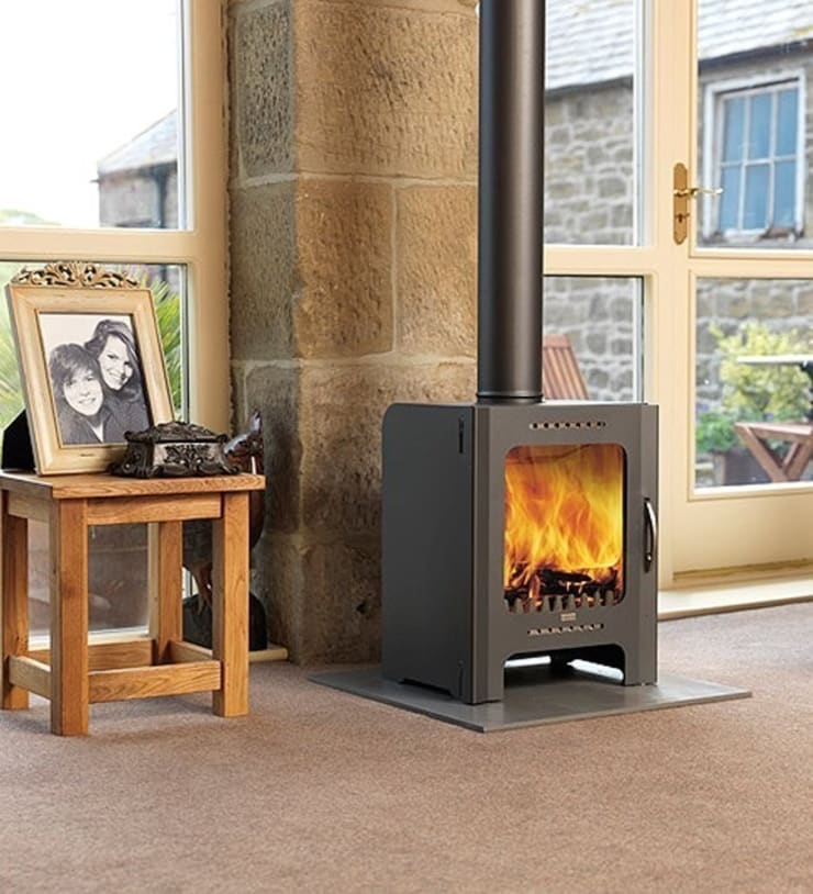 Firebelly FB DEFRA Approved Woodburning Stove:  Living room by Direct Stoves