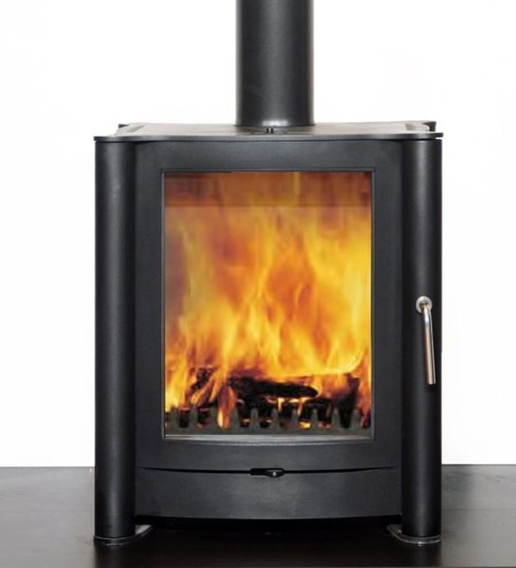 Firebelly FB1 Woodburning Stove:  Living room by Direct Stoves