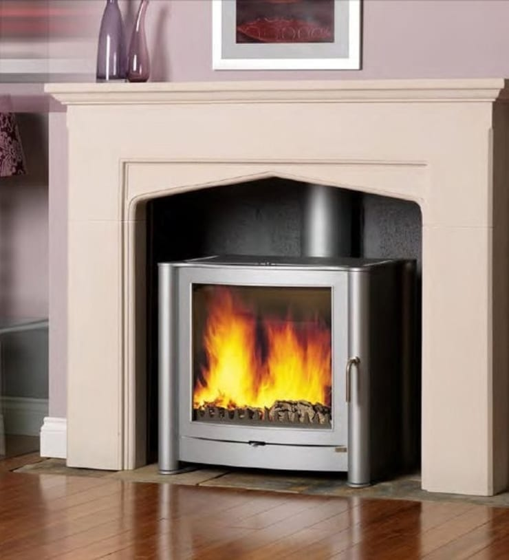 Firebelly FB2 DEFRA Exempt Woodburning Stove:  Living room by Direct Stoves