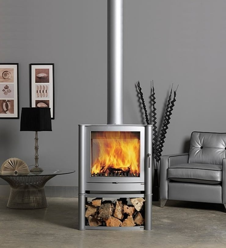 Firebelly FB2 Double Sided Woodburning Stove:  Living room by Direct Stoves
