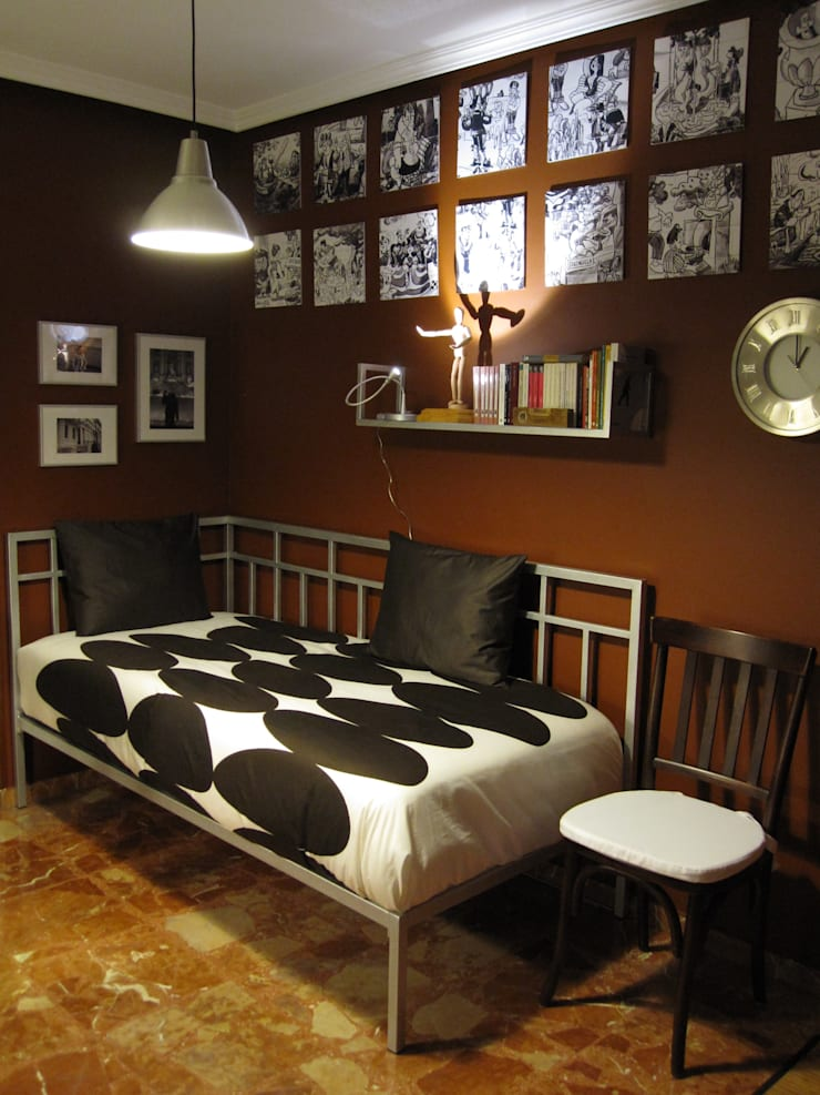 dormitorio en Valladolid: Dormitorios de estilo  de CarlosSobrinoArquitecto