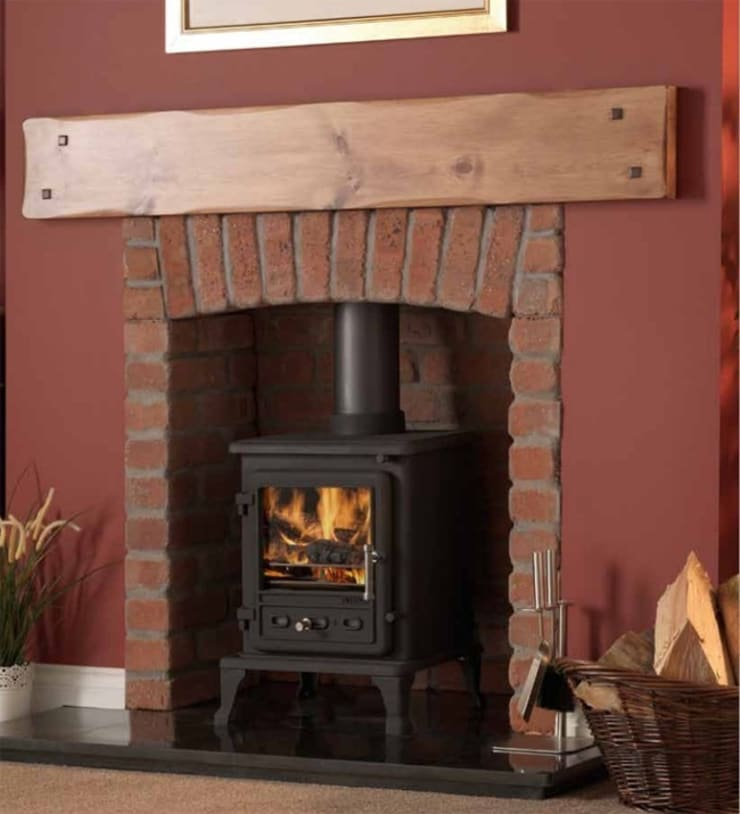 Firefox 5.1 Wood Burning - Multi Fuel Defra Approved Stove:  Living room by Direct Stoves