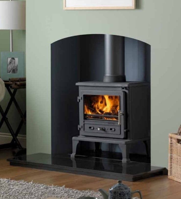 Firefox 8.1 Wood Burning - Multi Fuel Defra Approved Stove:  Living room by Direct Stoves