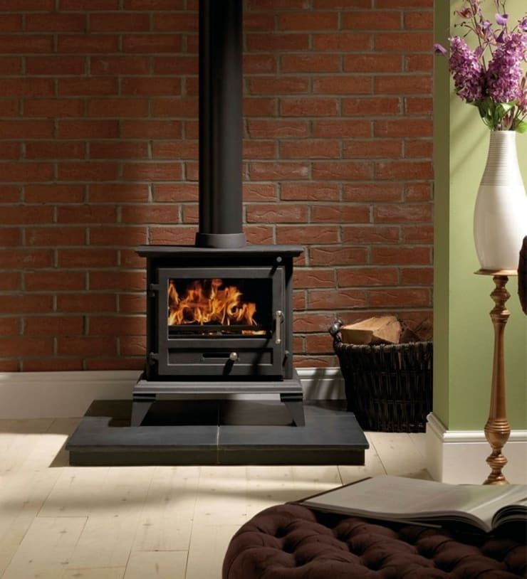Gallery Classic 8 Wood Burning and Multi Fuel Defra Approved Stove:  Living room by Direct Stoves