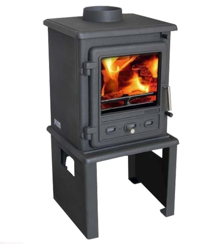 Firefox 5.1 Multi Fuel - Wood Burning Stove with Europa Log Stand:  Living room by Direct Stoves