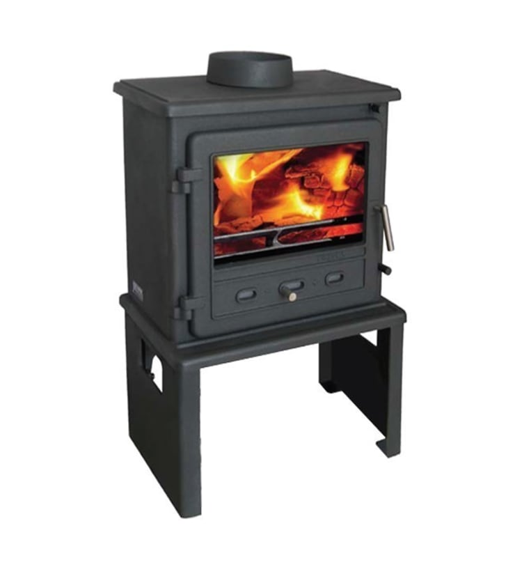 Firefox 8.1 Multi Fuel - Wood Burning Stove with Europa Log Stand:  Living room by Direct Stoves