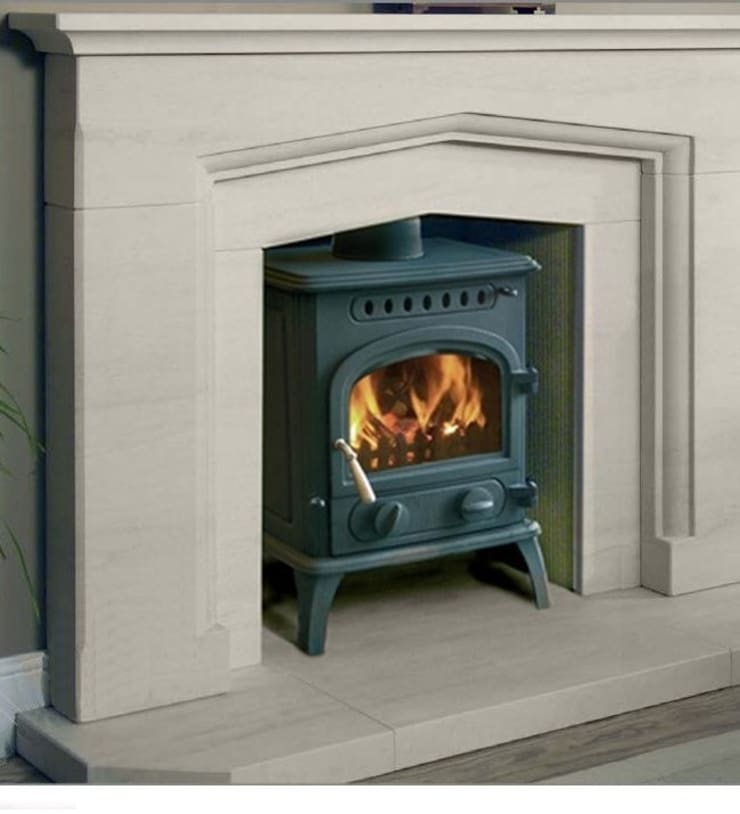 Firewarm 8 Wood Burning / Multi Fuel Stove:  Living room by Direct Stoves