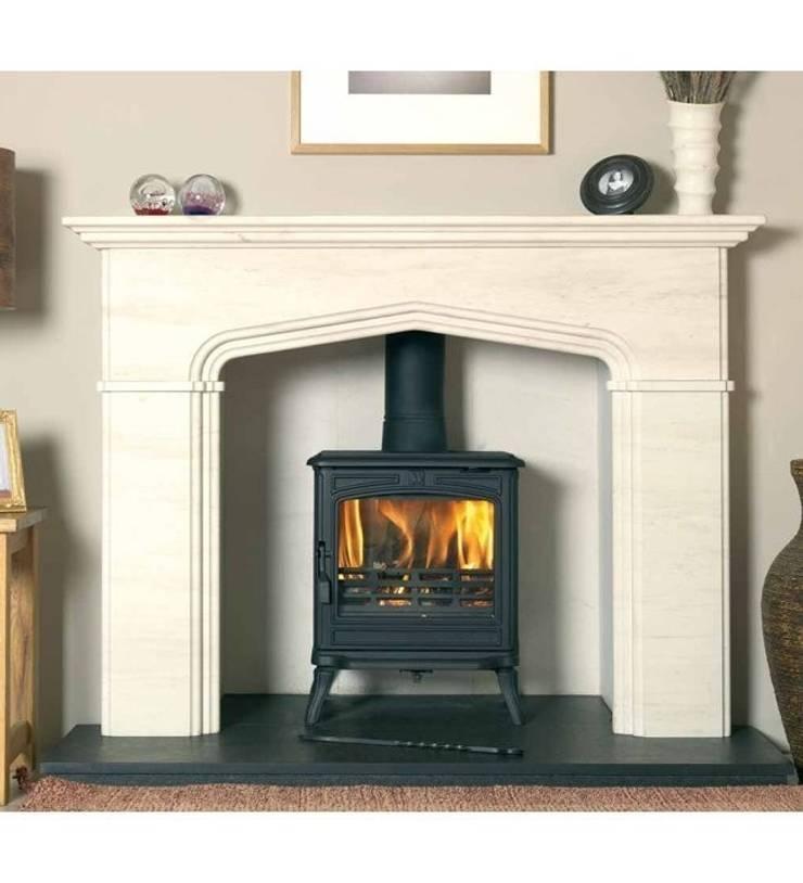 Franco Belge Montfort Elegance Wood Burning / Multi Fuel Stove:  Living room by Direct Stoves