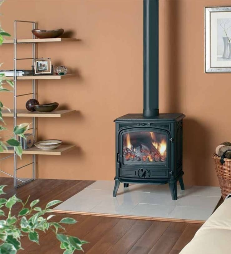 Franco Belge Savoy Classic Wood Burning / Multi Fuel Stove:  Living room by Direct Stoves