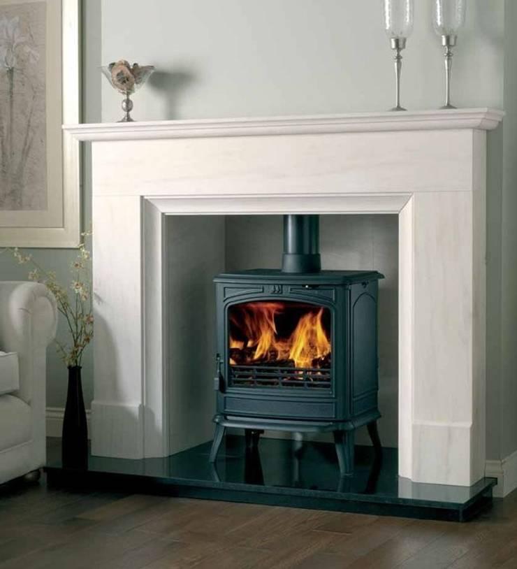 Franco Belge Savoy Elegance Wood Burning / Multi Fuel Stove:  Living room by Direct Stoves