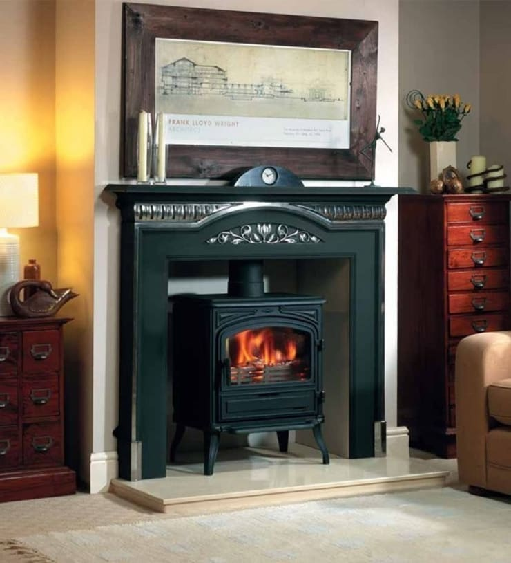 Franco Belge Limousin Wood Burning / Multi Fuel Stove:  Living room by Direct Stoves